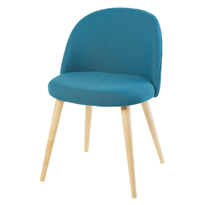 Prime Petrol Blue Vintage Chair With Birch Download Free Architecture Designs Scobabritishbridgeorg