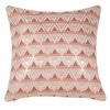 Pink Cotton Geometric Cushion Cover 40 x 40 cm