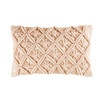 Pink Cotton Macramé Cushion 30x50