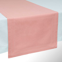Pink cotton table runner L. 150cm