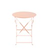 Pink Metal Folding Garden Table D 58 cm - Confetti