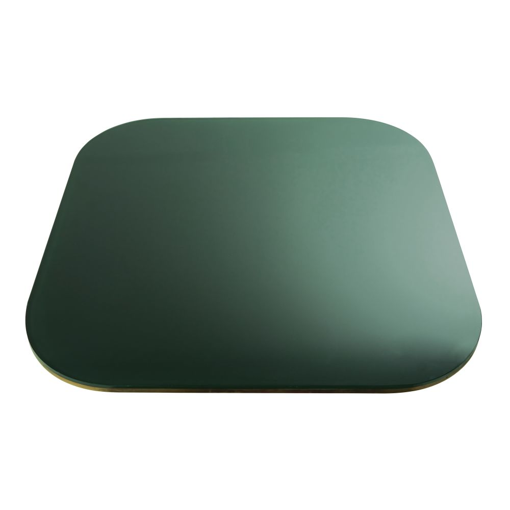 Plateau de table en verre fumé vert 4 personnes L90 Blackly (photo)