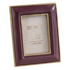 Plum and Gold Photo Frame 9 x 8 cm