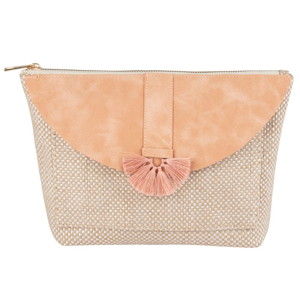 Pochette rose et beige (photo)