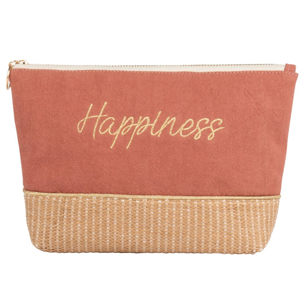 Pochette terracotta inscriptions dorées (photo)