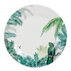Porcelain Dinner Plate with Tropical Motif PERROQUET