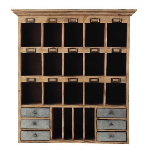 porte courrier en bois h 85 cm theophile maisons du monde. Black Bedroom Furniture Sets. Home Design Ideas