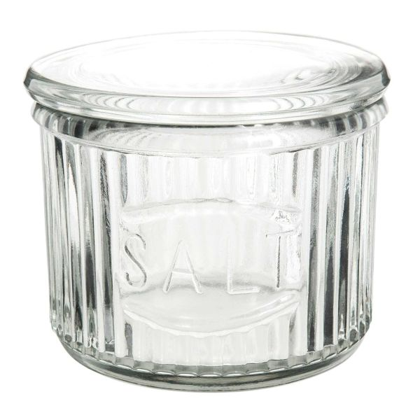 Pot de sel en verre transparent RETRO