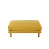 pouf de canap modulable en coton et lin jaune moutarde maisons du monde. Black Bedroom Furniture Sets. Home Design Ideas