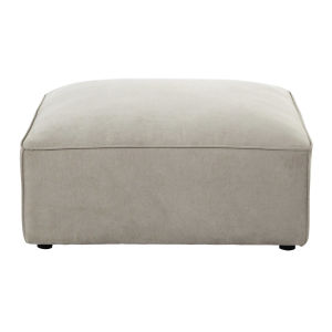 pouf de canap modulable en tissu beige maisons du monde. Black Bedroom Furniture Sets. Home Design Ideas