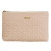 Powder Pink Quilted Fabric Toiletry Bag - NUDE