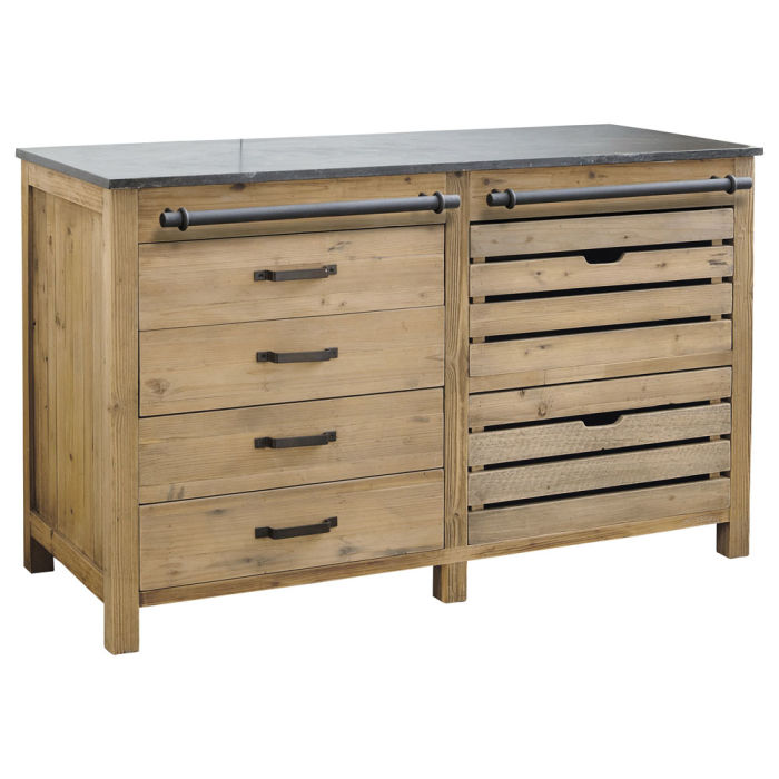 Recycled Pine Kitchen Base Unit W140
