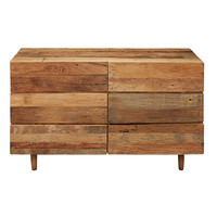 Recycled wood 6-drawer double chest Tennessee