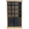 Recycled wood display case W 130cm - Voltaire