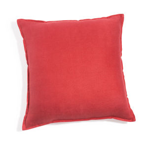 Red Washed Linen Cushion 45x45