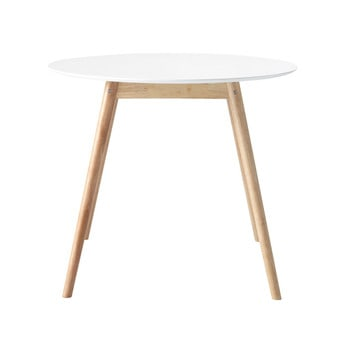 Page 1 Round Dining Table In White D 90cm