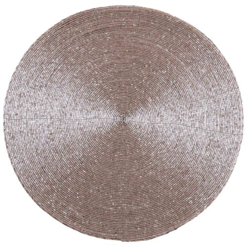 Round Placemat with Pink Glitter