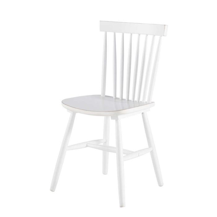 Rubber tree wood vintage chair in white | Maisons du Monde