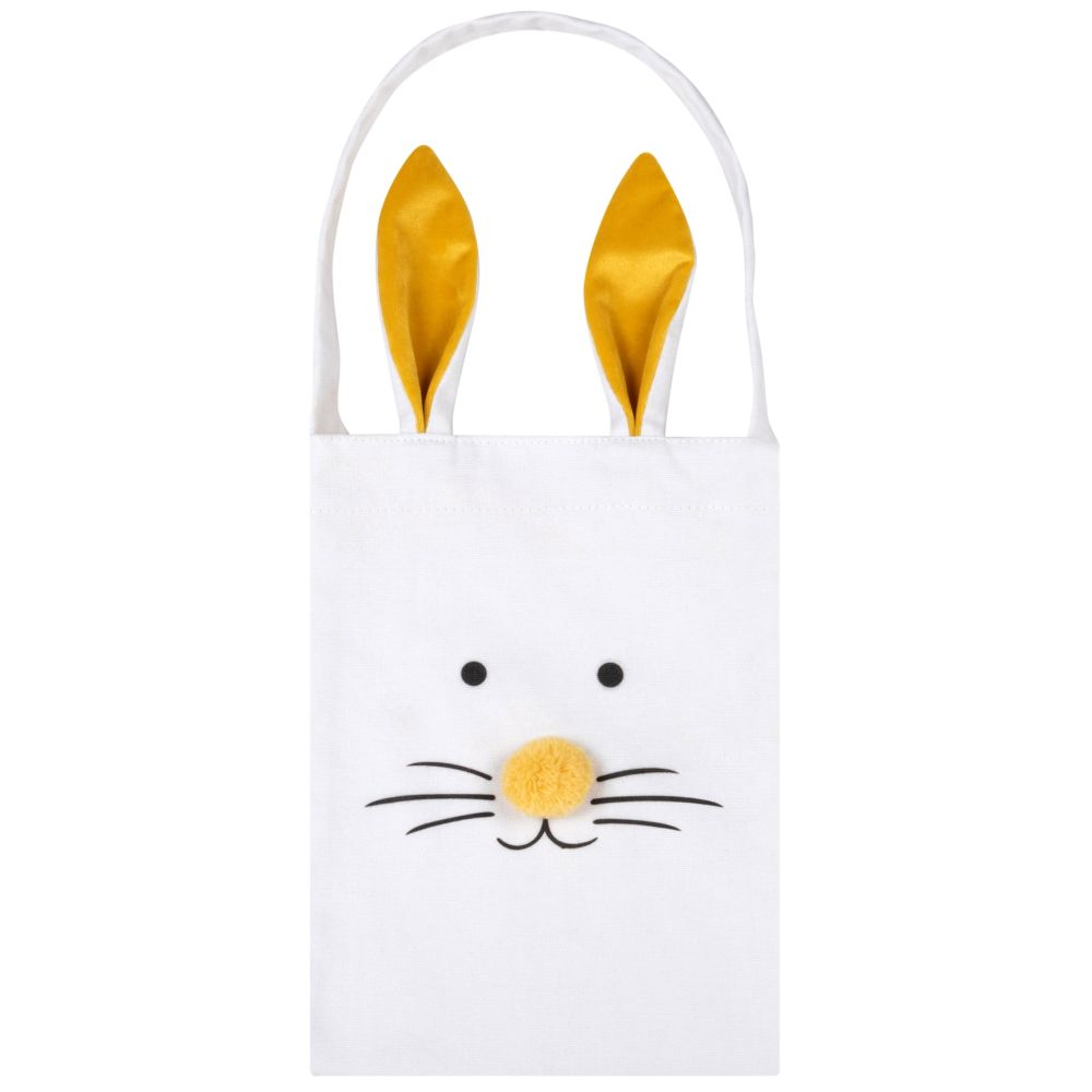 Sac lapin blanc et jaune (photo)