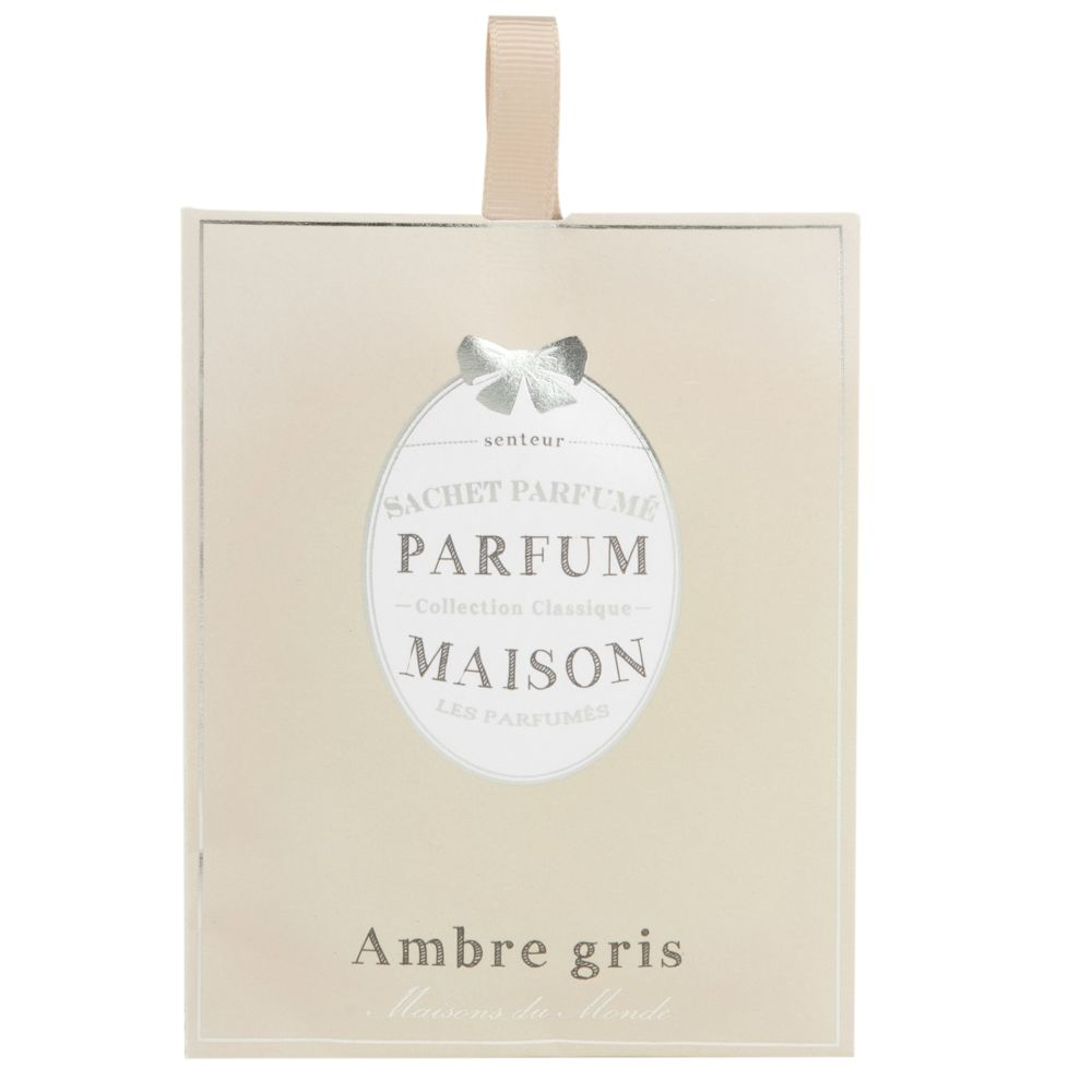 Sachet parfumé ambre gris MÉDAILLON (photo)