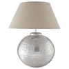 SALVADOR brass lamp with fabric lampshade H 50cm