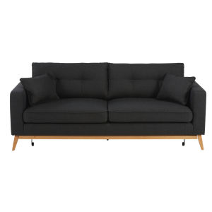 Scandinavian 3-Seater Anthracite Fabric Sofa Bed