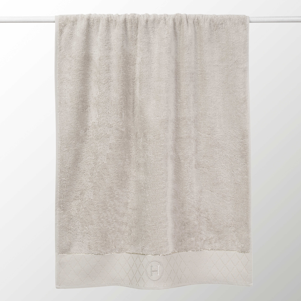 Serviette de bain en coton beige 50x100 HOTES (photo)