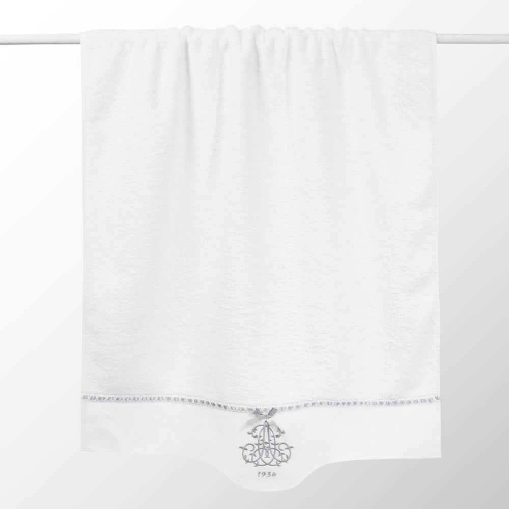 Serviette de bain en coton blanc 50x100 (photo)