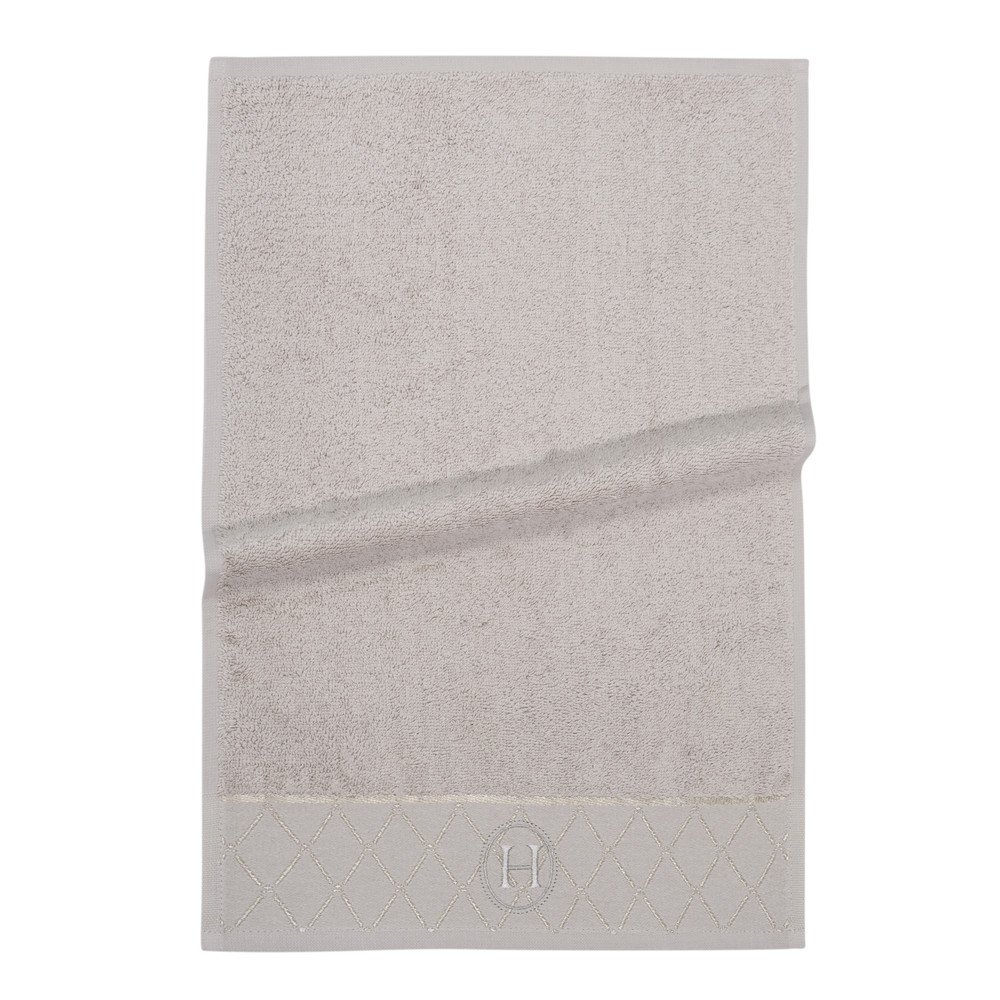 Serviette de toilette en coton beige 30x50 HOTES (photo)