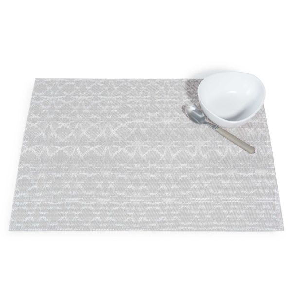 Set de table beige/blanc 30 x 45 cm ABBY
