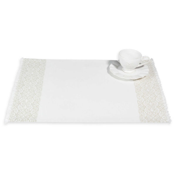 Set de table en coton beige 33 x 48 cm PISE