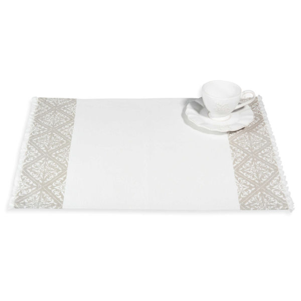 Set de table en coton gris 33 x 48 cm PISE