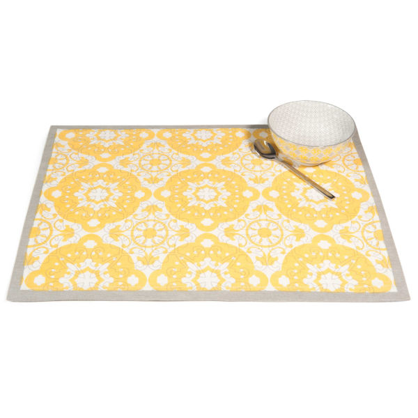 Set de table en coton jaune 33 x 45 cm BELEM