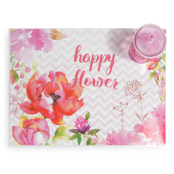 Set de table en plastique 31 x 41 cm HAPPY FLOWER