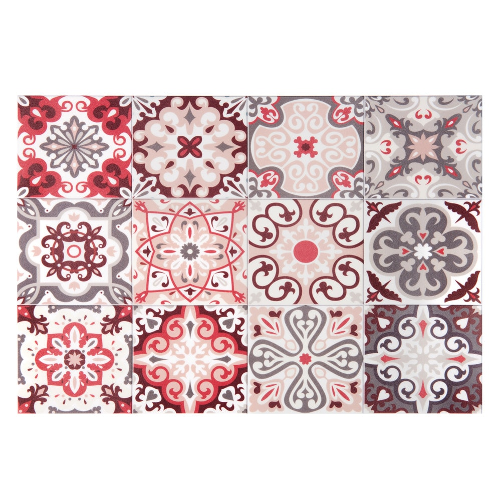 Set de table en vinyle motifs carreaux de ciment 30x45