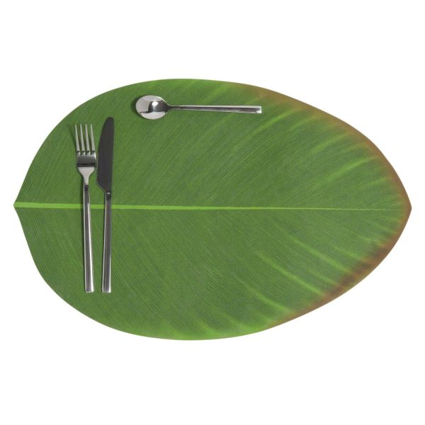 Set de table feuille verte 31 x 47 cm BANANIER