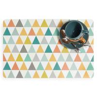 Set de table motifs triangle en plastique multicol...