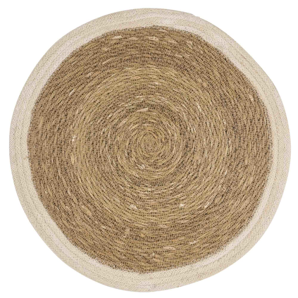 Set de table rond en jute blanc