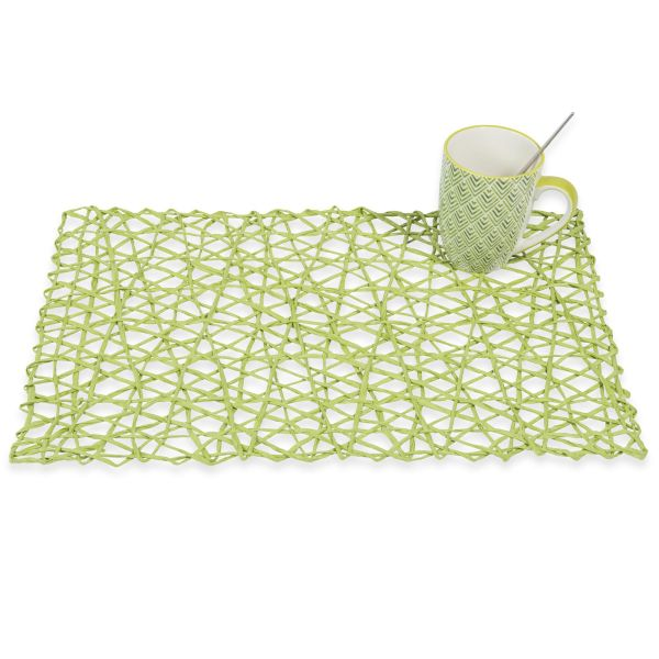 Set de table tressé vert 30 x 45 cm JUNGLE