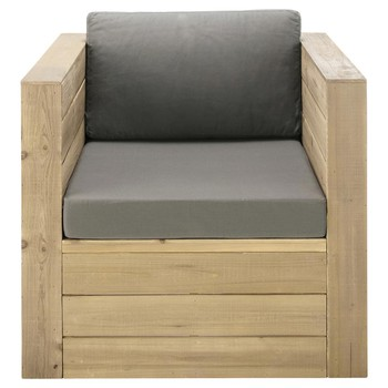 Sillones y pufs maisons du monde for Sillon jardin madera