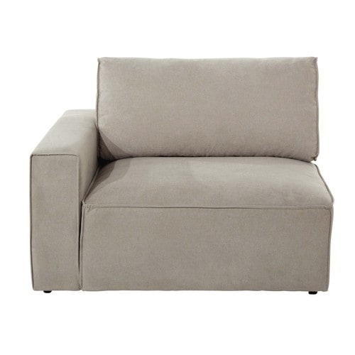 Sofa-Armlehne links aus Stoff, beige