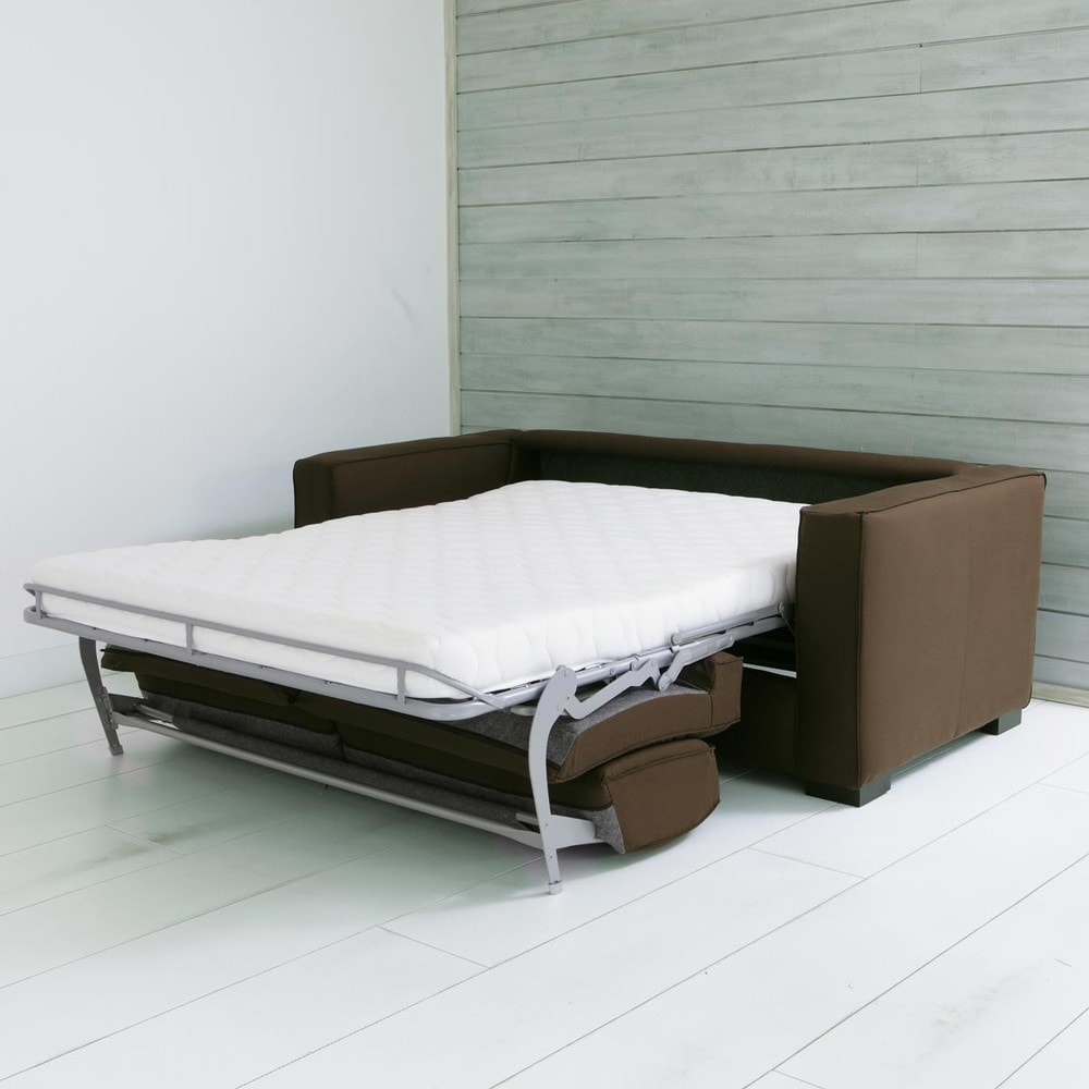 Sof convertible de 3 plazas de algod n gris topo berlin for Maisons du monde berlin