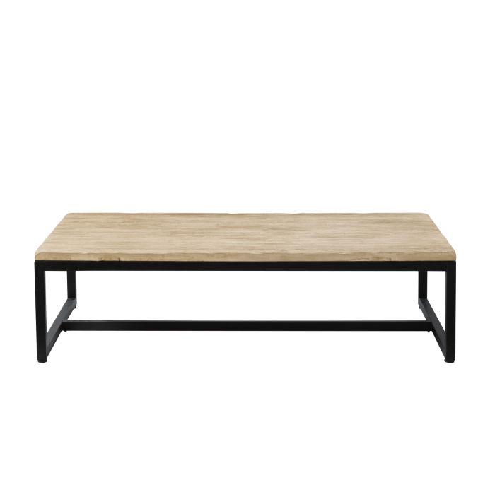 Solid Fir and Metal Industrial Coffee Table Long Island | Maisons du ...