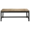 Solid Fir and Metal Industrial Coffee Table - Long Island