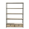 Solid Fir and Metal Industrial Shelf Unit - Long Island