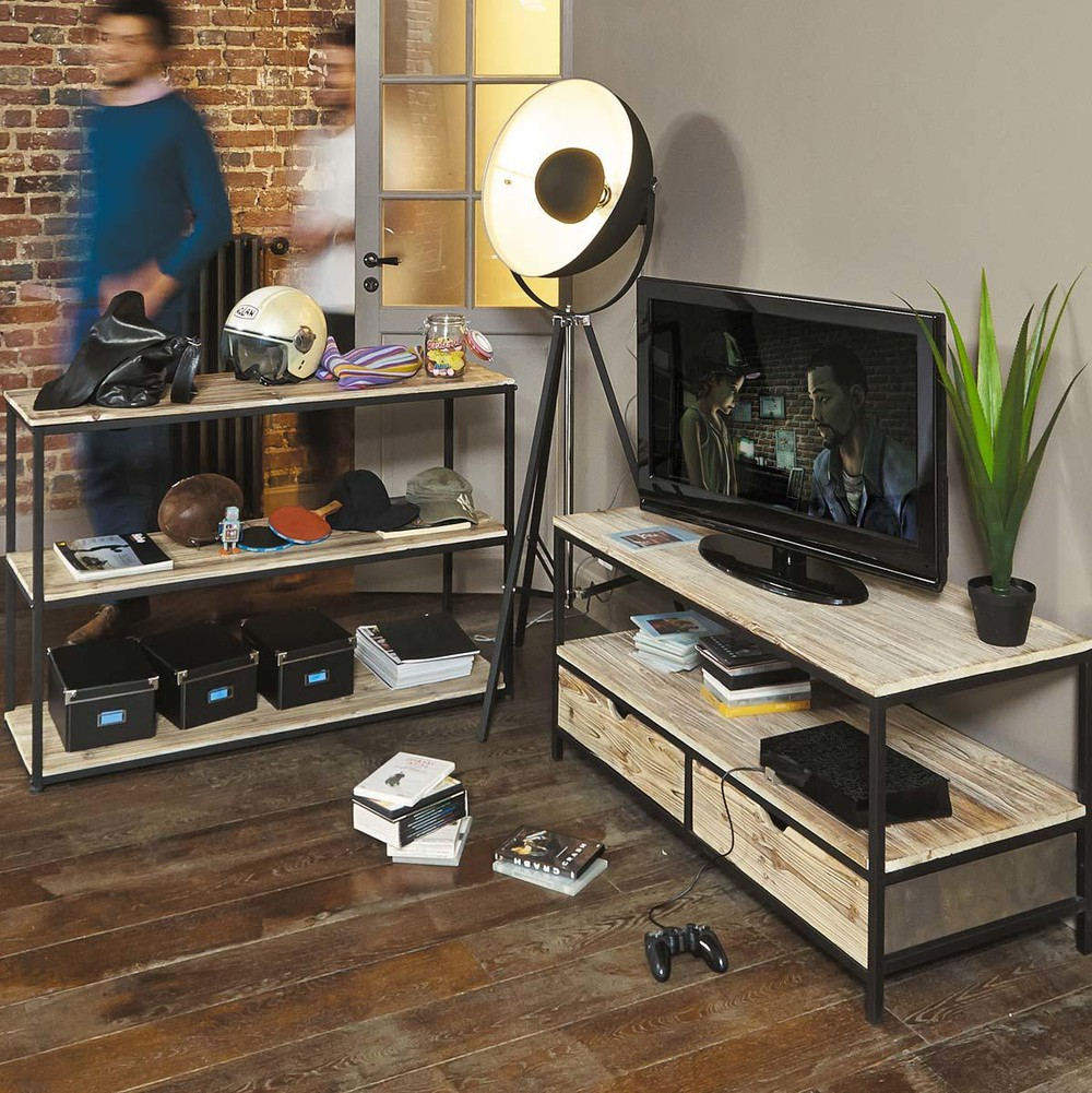 Meuble Long Island - Solid Fir And Metal Industrial Tv Unit Maisons Du Monde[mjhdah]http://modernaatl.com/images/beautiful-meuble-tv-0-meuble-tv-long-island-maisons-du-monde-pickture-1000×1000.jpg