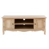 Solid Mango Wood 2-Door TV Cabinet - Colette