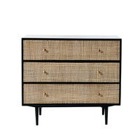 Solid Mango Wood and Acacia 3-Drawer Chest Indies