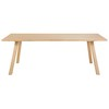 Solid Oak 6-Seater Dining Table W 220 cm - Norman