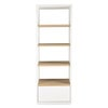 Solid oak storage tower unit in white H 200cm - Austral